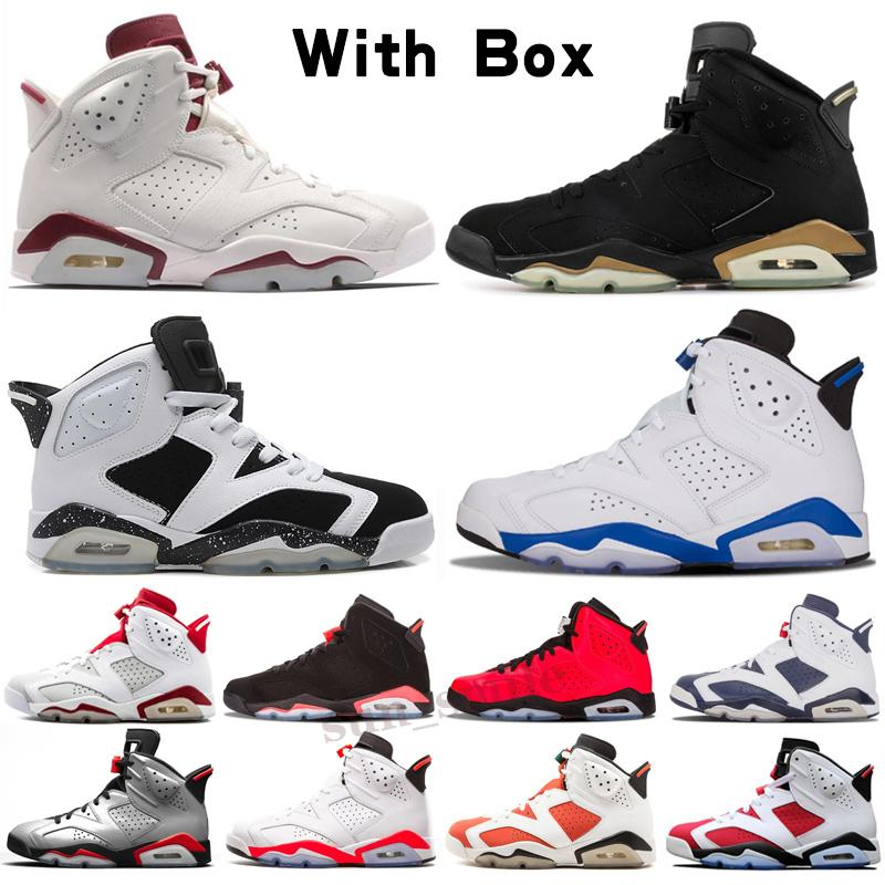 Jordan 6 AJ 6 jumpman 6 Dark Mocha Uomo Scarpe da basket 25th Anniversary Lepre Bio Hack Uncincer Nero Cactus a infrarossi Black Jack Jack Sneakers