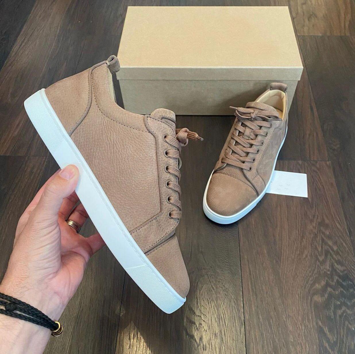 Toptan ünlü genç orlato erkek sneakers ayakkabı zarif kırmızı alt düşük üst çift rahat daireler konfor kaykay açık indirim spor kutusu ile