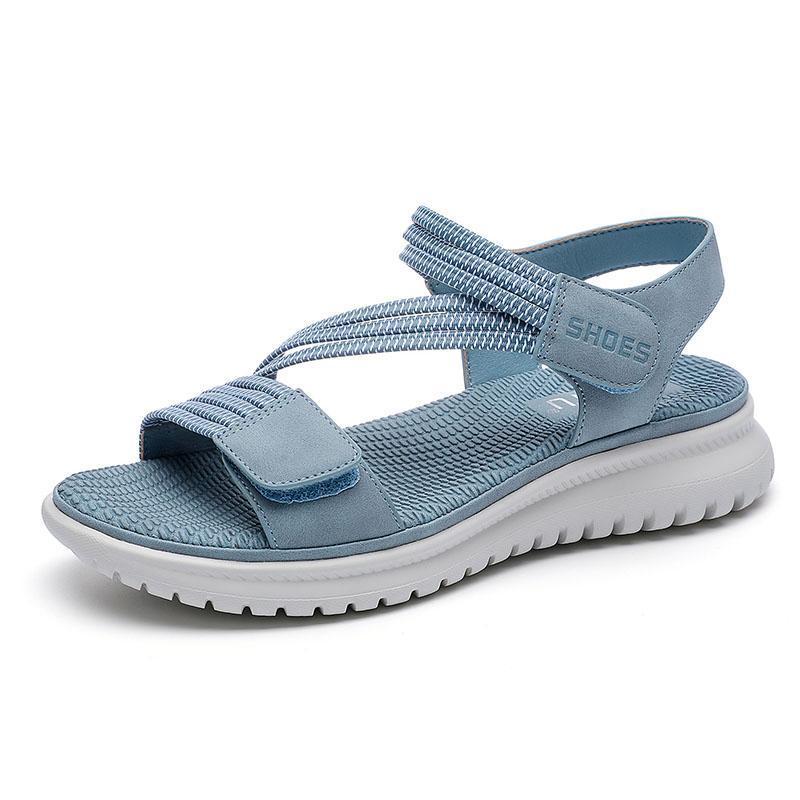 Sommerschuhe Frauen Sandalen Dicke Sohle Süße Damen Strand Urlaub Schuhe Plus Größe 42 A3485