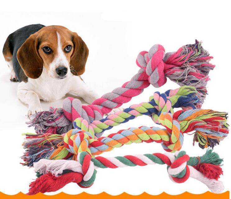 Cão mastigar corda osso animal de estimação suprimentos cachorrinho de algodão durável trançado engraçado brinquedos animais de estimação mastigos brincar com cães limpeza ferramenta de dente brinquedo em casa