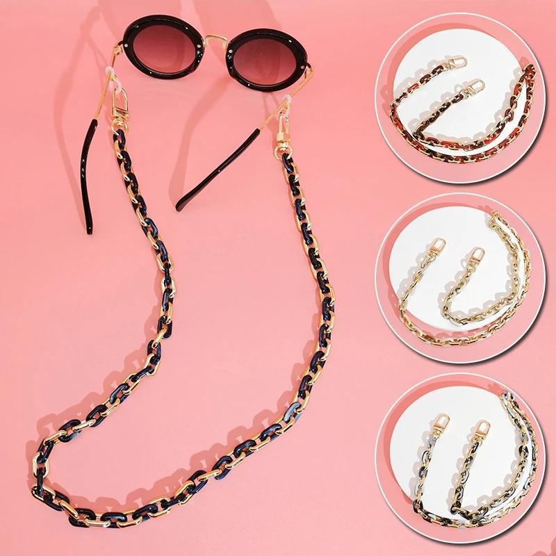 60 cm Akrilik Güneş Gözlüğü Zincir Kadınlar Anti Kayma Okuma Gözlükler Zincirler Maske Tutucu Boyun Askısı İpi Çanta Kayışı Aksesuarları Hediye