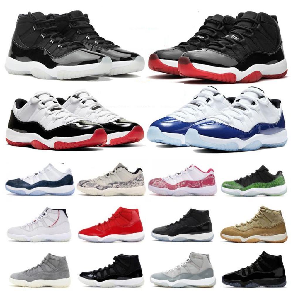 أعلى 11 11 ثانية 25 الذكرى المنخفض الأبيض كونكورد 45 بلينغ الرجال اللباس أحذية رياضة حمراء جاما زرقاء الحادي عشر المرأة الرياضية أحذية رياضية 36-47
