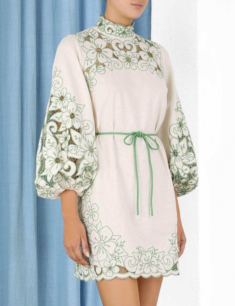 Vestido de manga de burbuja elegante de nuevo estilo nuevo estilo