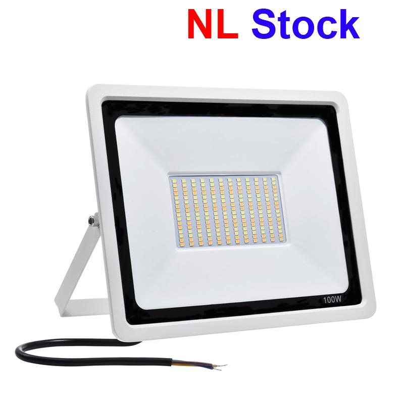 NL 스톡 옥외 조명 LED 투광 조명 3 색 변화 색 온도 조정 가능한 IP65 방수 50W 100w 안뜰 정원 차고에 적용