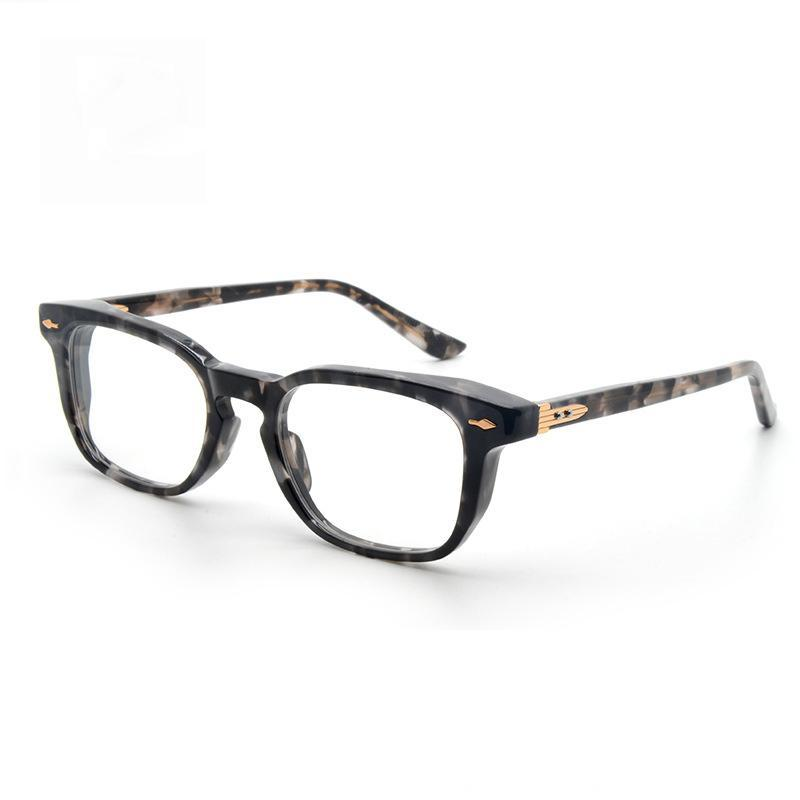 Di alta qualità Jacques Sheridan retrò vintage poligono quadrato quadrato acetato telaio da uomo marie donne occhiali da sole occhiali da sole ottici miopia a colori lenti a colori