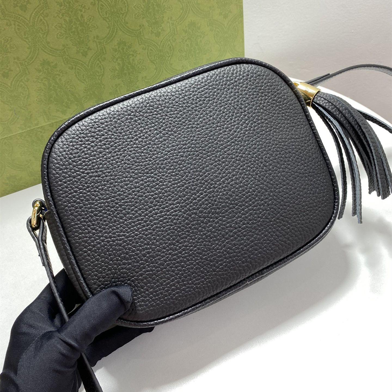 Omuz Çantaları Kadın Çanta Moda Kadın Çantalar Hakiki Deri SOHO Disko Kabartmalı Interloklu Çift-G Püskül Fermuar Messenger Çanta 308364 GB83