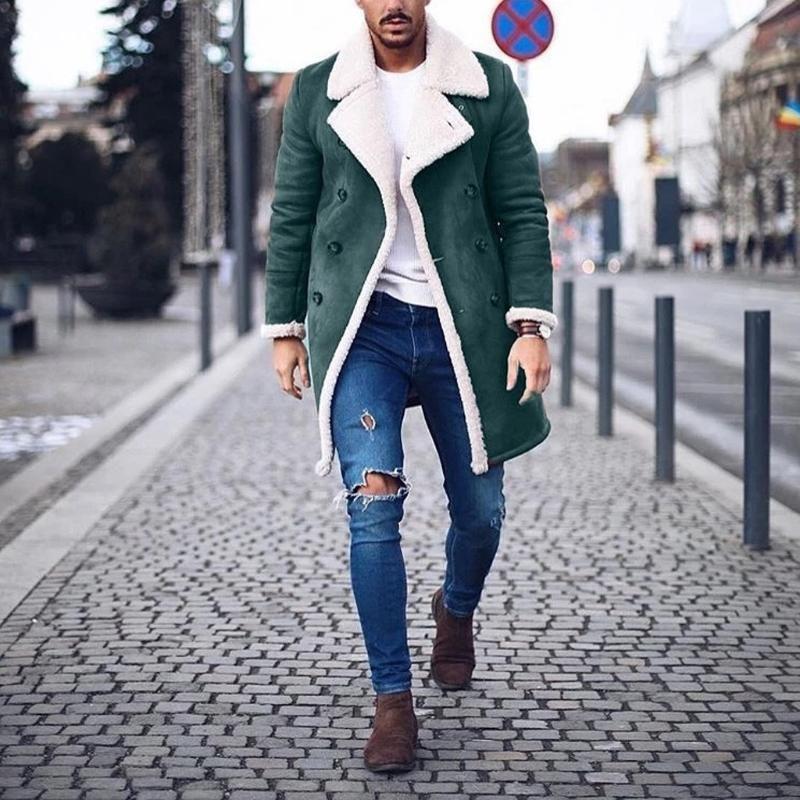Trench da uomo Trench Winter Warm Long Outwear Pulsante Smart OverCeat Cappotti impermeabili Antifondi