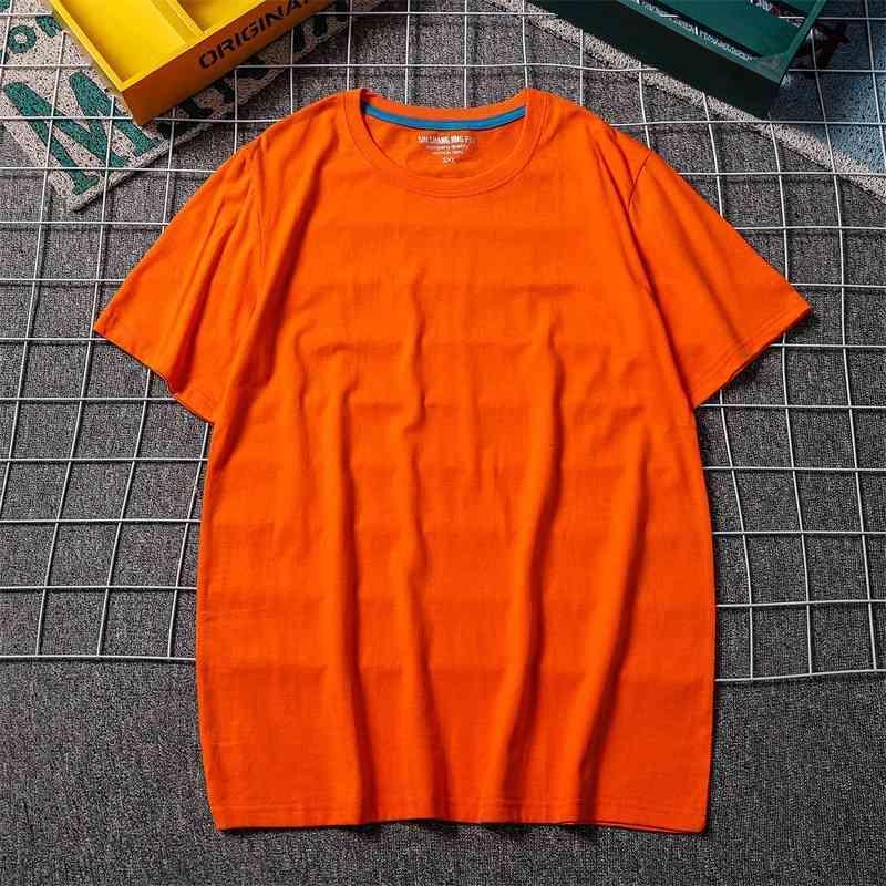 T-shirt coton 2021 Été à manches courtes Slim Corps Solide Multicolore Couple Couple de couple Round NE TOP T-shirt pour hommes