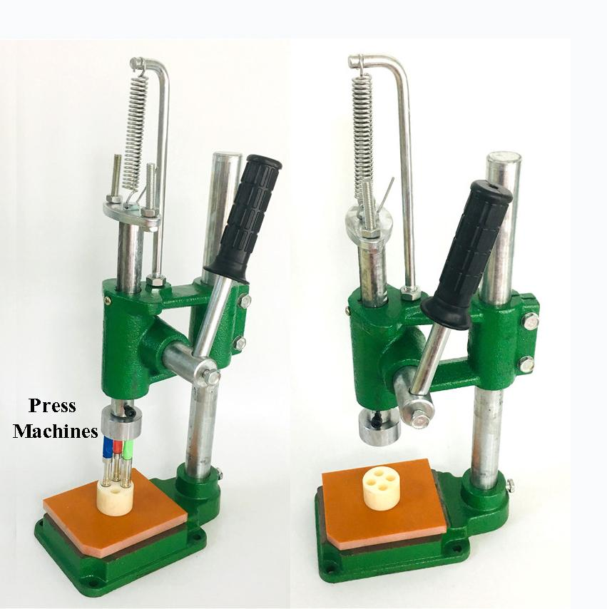 Press in Tips Machines Vape Cartridges Press-on Tools Arbor Manual Machine Electronics For Pressing 1.0ml 0.8ml 0.5ml M6T Atomizers Disposable E Cigarette Vaporizers