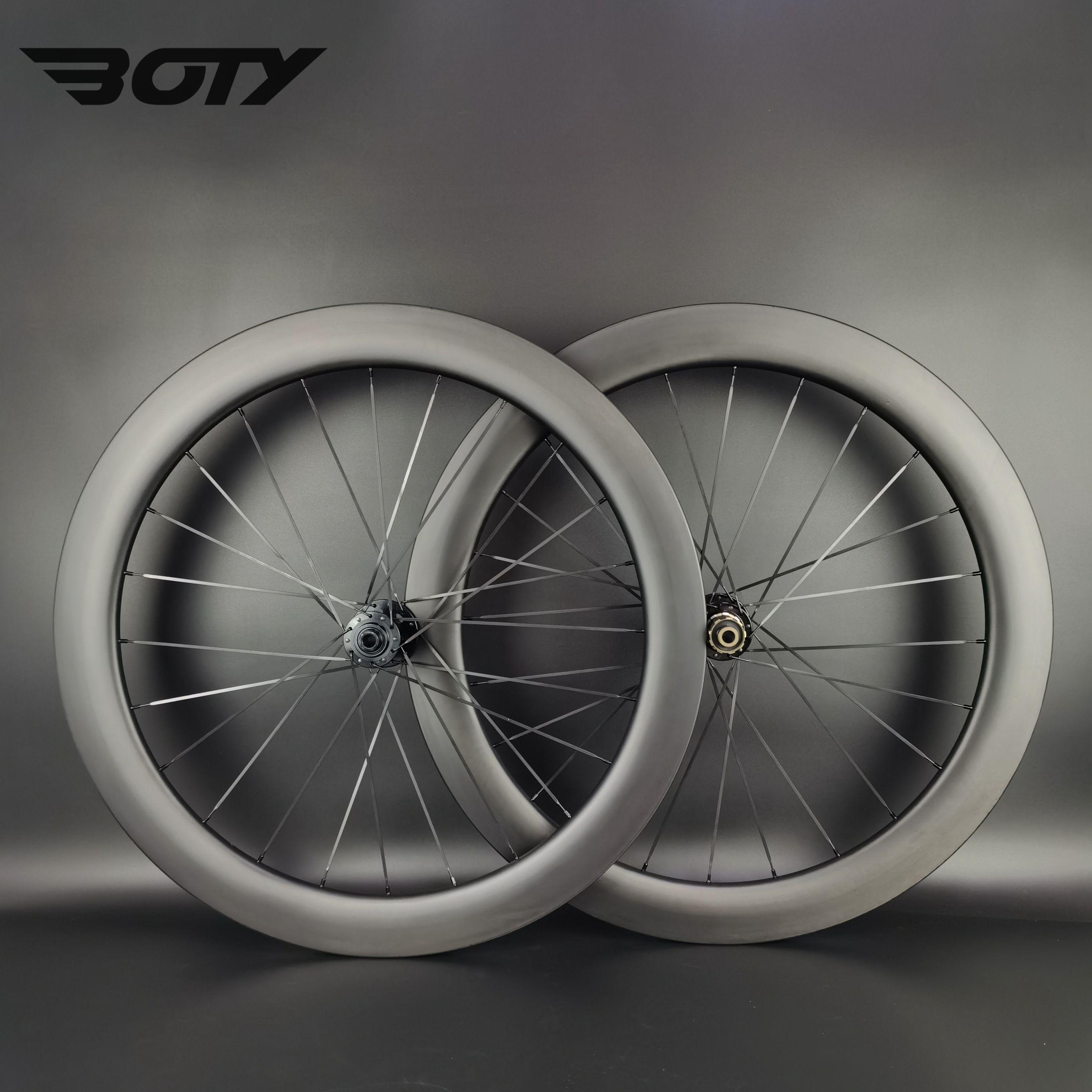 700C 도로 디스크 브레이크 카본 휠 60mm 깊이 25mm 폭 자전거 Clincher / 관형 / 튜브리스 자전거 휠셋 UD 무광택 마침