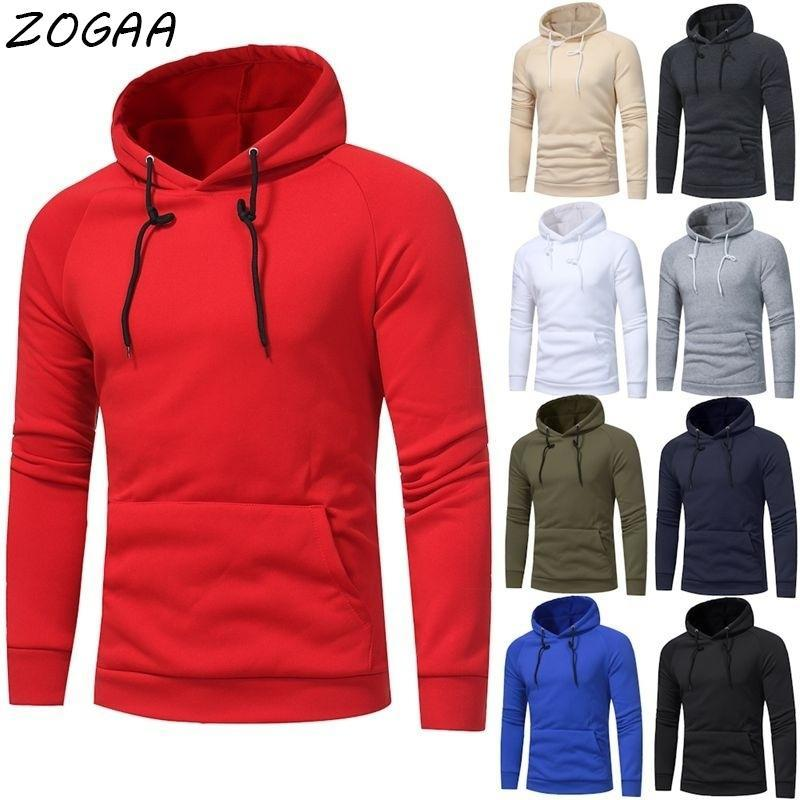Herren Hoodies Sweatshirts Zogaa Trendy Mode Männer Pullover Gepolsterte Hoodie Winter Harajuku Plus Größe Hip-Hop Street Slim Fit Sweatshirt JAC