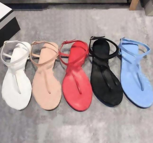 2021 Sandales occasionnelles pour femmes d'été, mocassins, chaussures plates, tongs, sandales mode luxe 35-40