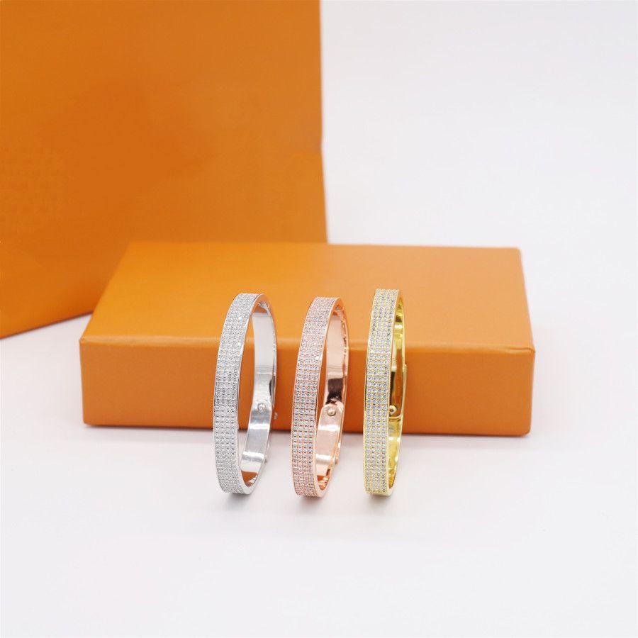 Pulsera de mujer Pulsera de mujer Pulseras para la joyería para mujer Joyas de pulsera 3 colores con caja
