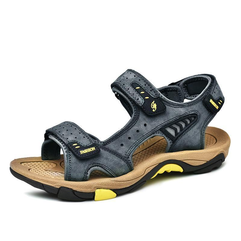 Sandálias em conforto ao ar livre respirável verão praia masculino grande homens plataforma de toe homens cuero para andar sandales s sandalias sanduine slip