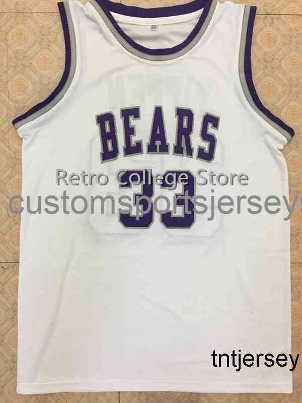 # 33 Scottie Pippen ursos branco basquete jersey retro jersey homens mulheres juventude xs-6xl