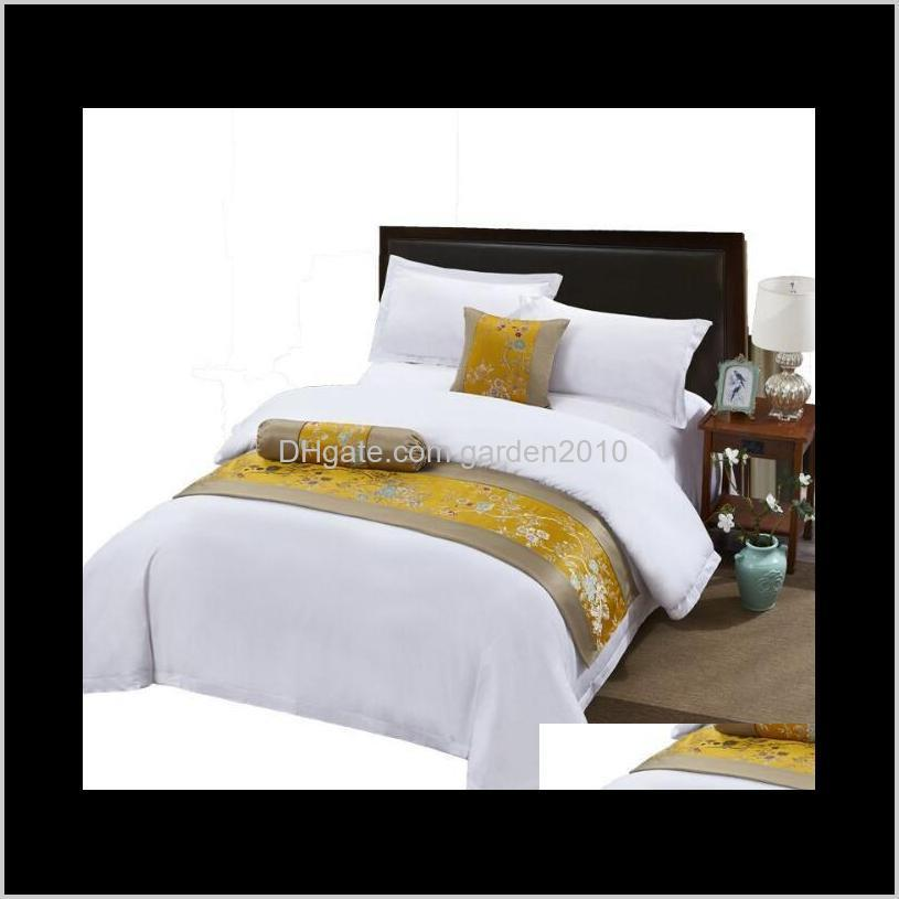 Fivestar Els All Cotton White Sets Homestay El Apartment Satin Drill Sheets And Quilts Bedding Supplies Home Textiles Da0Qk Goebx