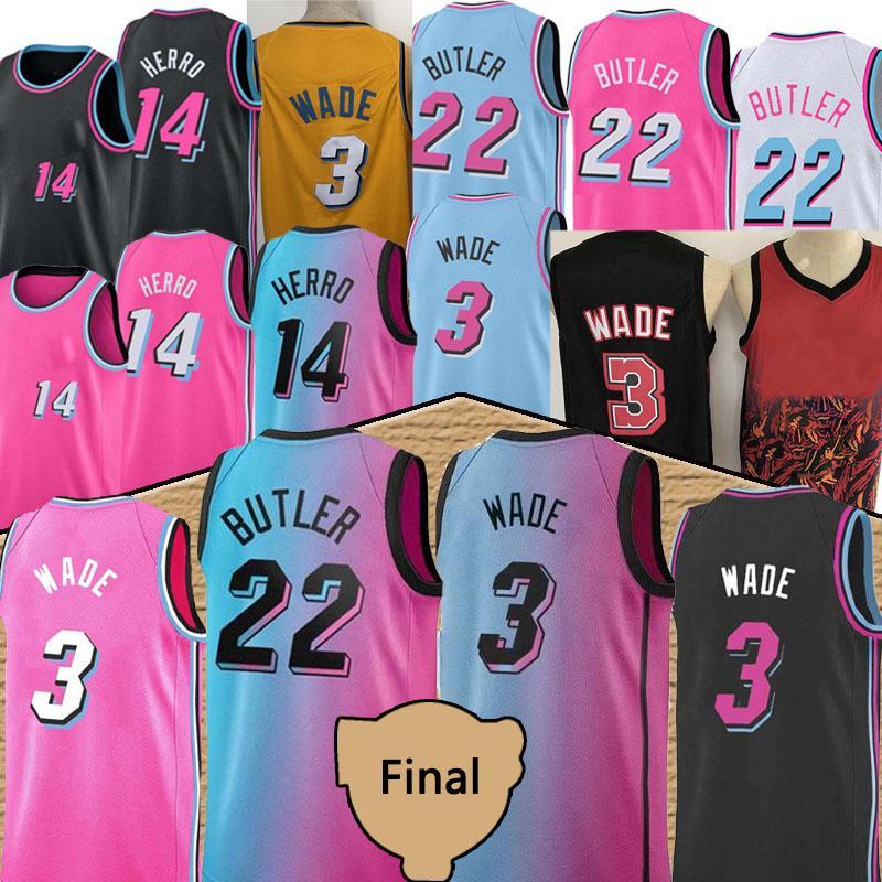 Tyler 14 Herro 13 ADEBAYO JIMMY 22 BUTLER Erkekler Basketbol Jersey Dwyane 3 Wade Erkekler Basketbol Formaları Yeni 2021 Camiseta de Baloncesto