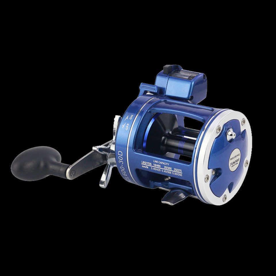 المشي الأسماك عالية القوة الألومنيوم طبل بكرة خط الصيد مكافحة التصيد الصيد بكرات 12bb 999ft عمق مكتشف مكافحة متر Y18100706