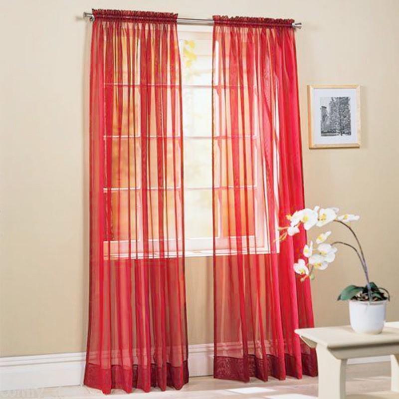 Curtain & Drapes Curtains Door Bead Net Chiffon Voile Veil For Living Room Bedroom Window Rideaux Pour Le Salon Tulle