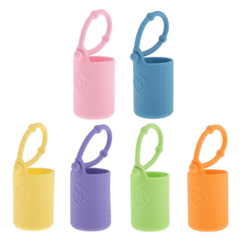 Bottiglie di stoccaggio Barattoli 15ml Bottiglia di olio essenziale Porta a rulli a rulli in silicone per borsa per borsa
