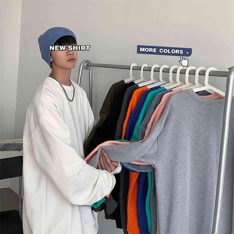 Privatherinker Solid Color Basic Hommes Sweats à Sweats à capuche d'automne Mode Homme 22 Couleurs Man Streetwear Casual Couple Sweatshirts 210728