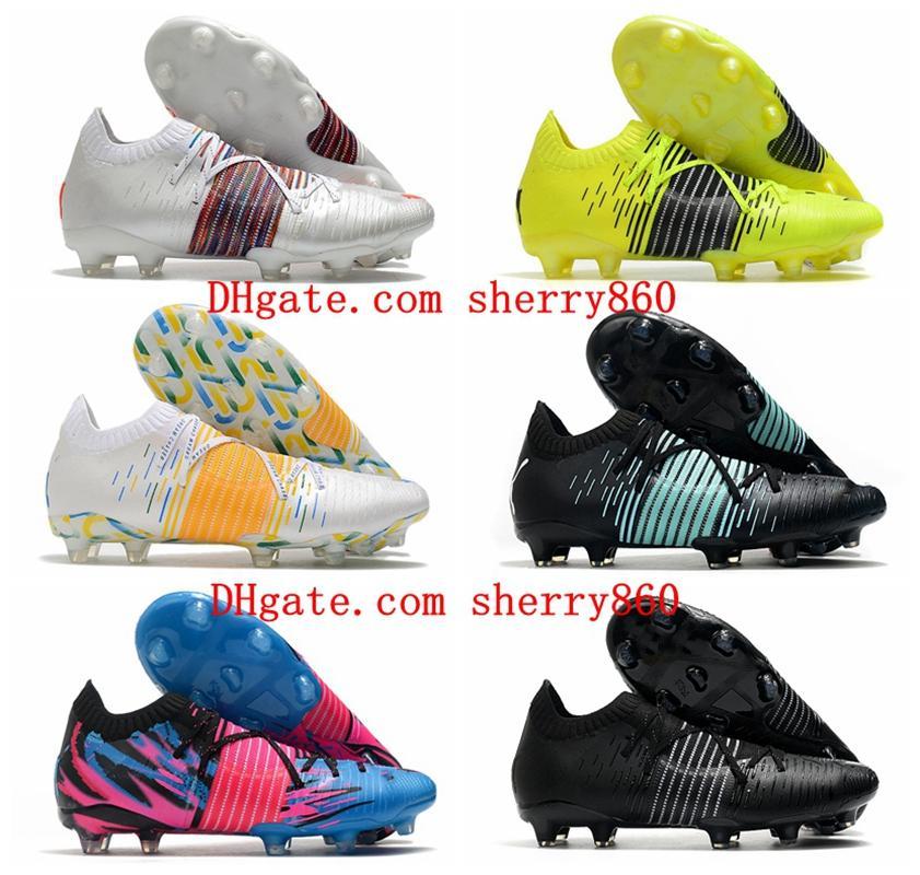 2021 Mens Scarpe da calcio Future Z 1.1 Tacchetti Botas de Futbol Boots Stivali da calcio Sneakers Formazione professionale Moda Fashion Calzature in pelle Outdoor Spikes traspirante Rosso
