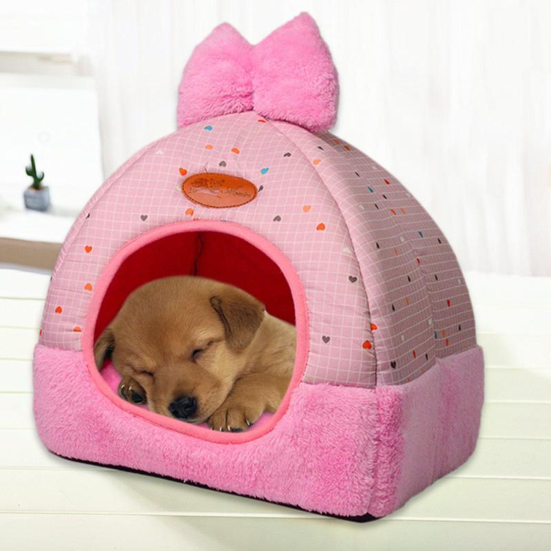 Abbigliamento per cani Bed Pieghevole Pieghevole Casa pieghevole Piccolo impronta Tenda Cat Kennel Interno ed esterno Viaggi portatili Viaggi portatili Forniture convenienti