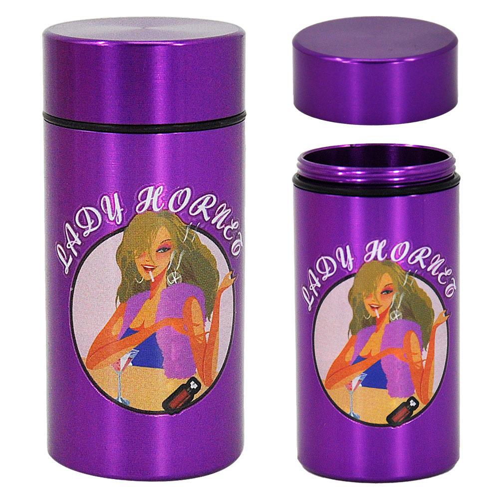 Lady Hornet Metall Pille Box Aufbewahrungsbehälter Aluminium Dame Bequemer Medizin Aufbewahrungsbox Metall Pille Box Bong