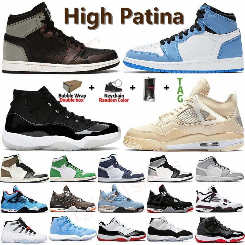 1 1s Air Retro Jordan  Blu Jumpman Dark Mocha Travis Scotts 1 di pallacanestro Scarpe 4s What The Cement Cactus Jack White Bred 11 Pantone Concord 45 Mens Sneaker Scarpe da basket