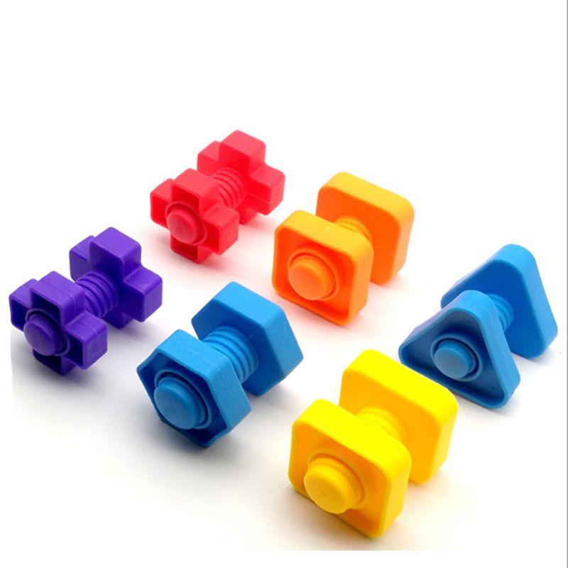 10 шт. Montessori обучение образованию математические игрушки смарт-яйца / пластиковые винты 3d головоломки игра для детей детей развивающие игрушки GYH 1269 Y2