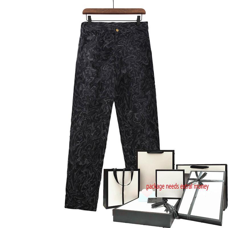 21ss Men Jeans Classic Pattern Print Brolies Slim Fit Мотоциклетные байкеры Брюки прохладный хип-хоп прямой брюк высокого качества Жан