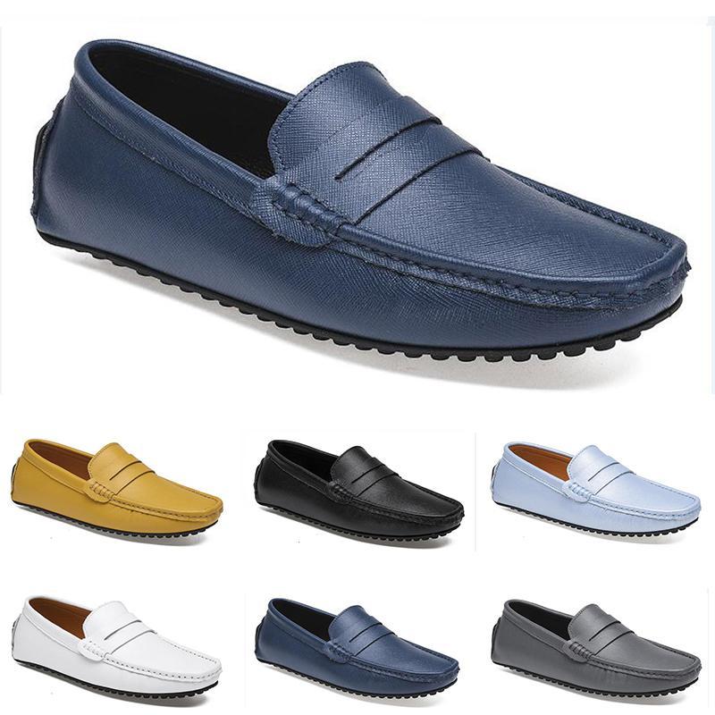 2021 غير العلامة التجارية الرجال الاحذية أسود أبيض رمادي البحرية الأزرق الشظية رجل الأزياء المدرب رياضة الركض في الهواء الطلق المشي 40-45 اللون 137