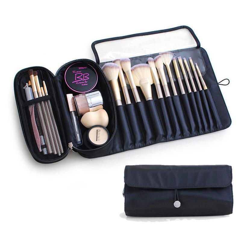 Mode cosmétique brosse sac femmes étanche nylon cosmétiques maquillage pliable kosmanetczka maquillage organisateur sacs organisateur sacs