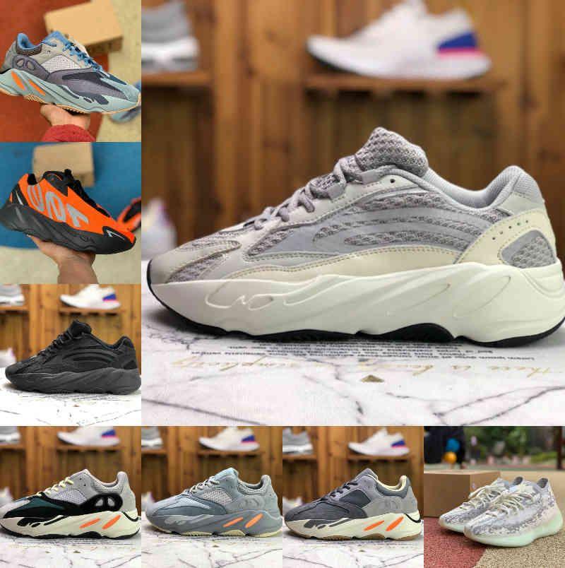 2021 Yeni Yüksek Kalite Kanales 700 Atalet Mens Koşu Ayakkabıları Batı V2 V3 380 Dalga Siyah Statik Koşucu Mnvn Katı Gri Mıknatıs Kemik Tephra Geode Bayan Sneakers C2
