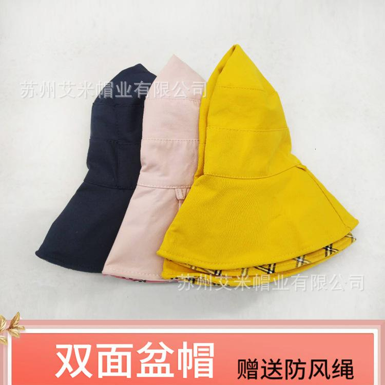 Двухсторонний Новый Складной Бассейн Рыбак Детский Корейский Сеть Красный Большой Breim Солнцезащитная Шляпа Женский Солнцезащитный крем