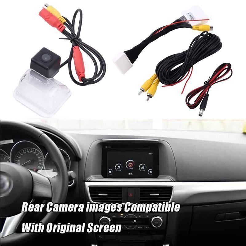 Carro traseiro View Camera Backup Reverso para CX-5 CX5 2021 Fábrica Compatível SN Cable Câmeras Sensores Estacionamento