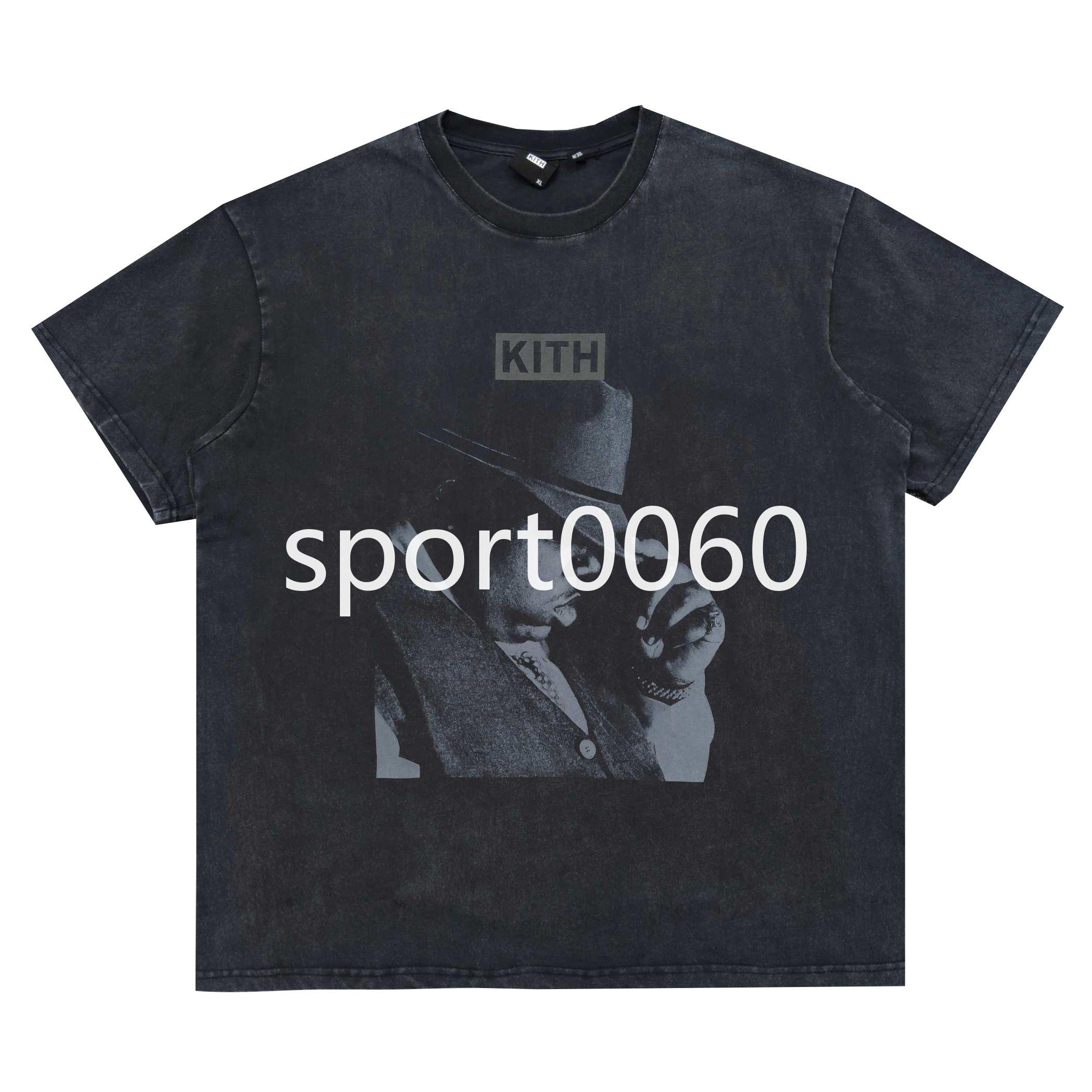 Kith name name легендарный хип-хоп певец большая фото футболка высокая улица Maychao мужчины и женщины круглые шеи промывают популярным с коротким рукавом