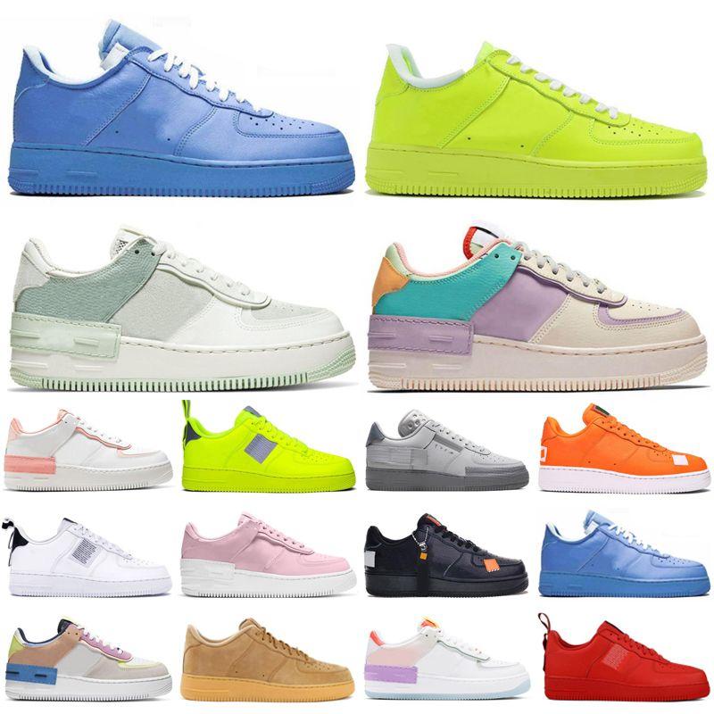 Air Force 1 AF1 원래 남성은 파란색 녹색, 빨간색 트리플 TN 스포츠 스니커즈 야외 트레이너 chaussure의 옴므 조깅 신발을 실행 여자