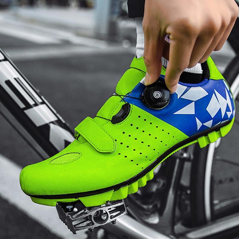도로 사이클링 신발 남성 여성 야외 스포츠 안티 슬립 자체 잠금 마운틴 자전거 Sapatilha Ciclismo MTB 자전거 장비 신발