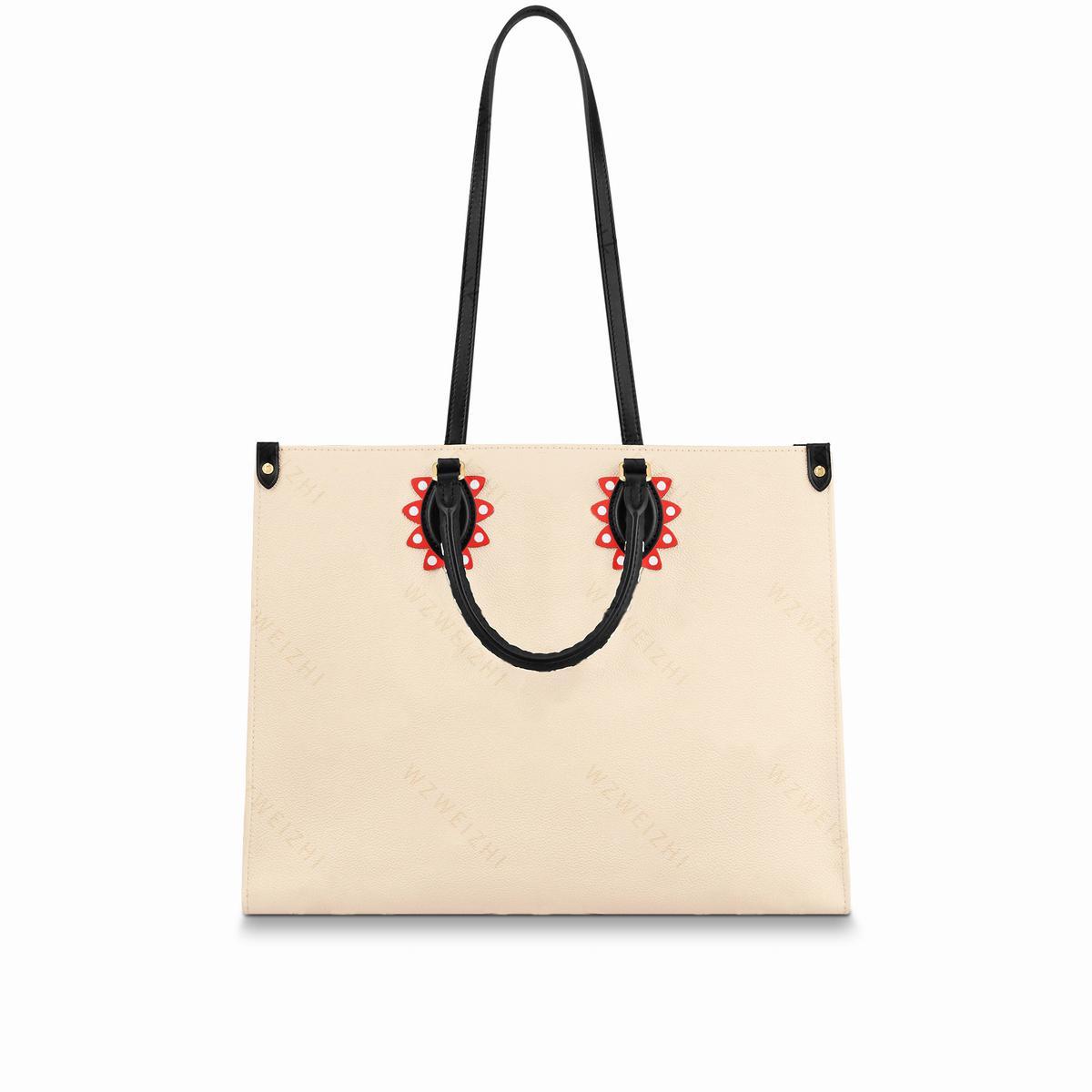 En Kaliteli Hakiki Deri Kadın Çanta Bayanlar Tote Çanta Çanta Moda Alışveriş Omuz Çantaları Crossbody Klasik Mektup Debriyaj Çanta Cüzdan 41 cm
