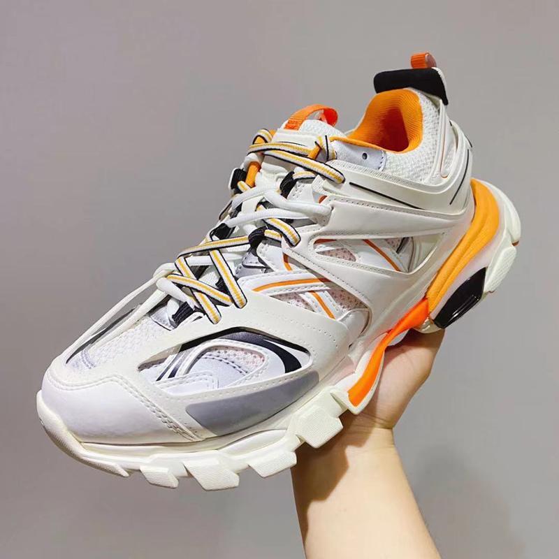 2021 باريس triple s مصمم أحذية رياضية مسطحة عارضة أبي الأحذية رجل إمرأة إضفالية الترفيه 17FW كل الأسود خمر القديم الرياضية شوهي chaussures
