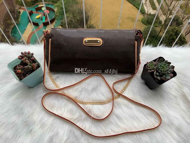 最高品質のファッション女性のバッグハンドバッグ財布レザーチェーンバッグクロスボディショルダーバッグメッセンジャートートバガ財布3色