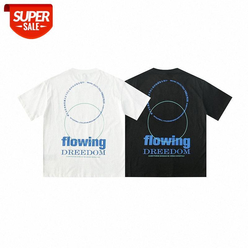 Kurzärmeliges T-Shirt Herren Sommer Amerikaner Casual Street Trend Sport Persönlichkeit Kreative Brief Drucken Lose Rundhals-T-Stück # LD2J
