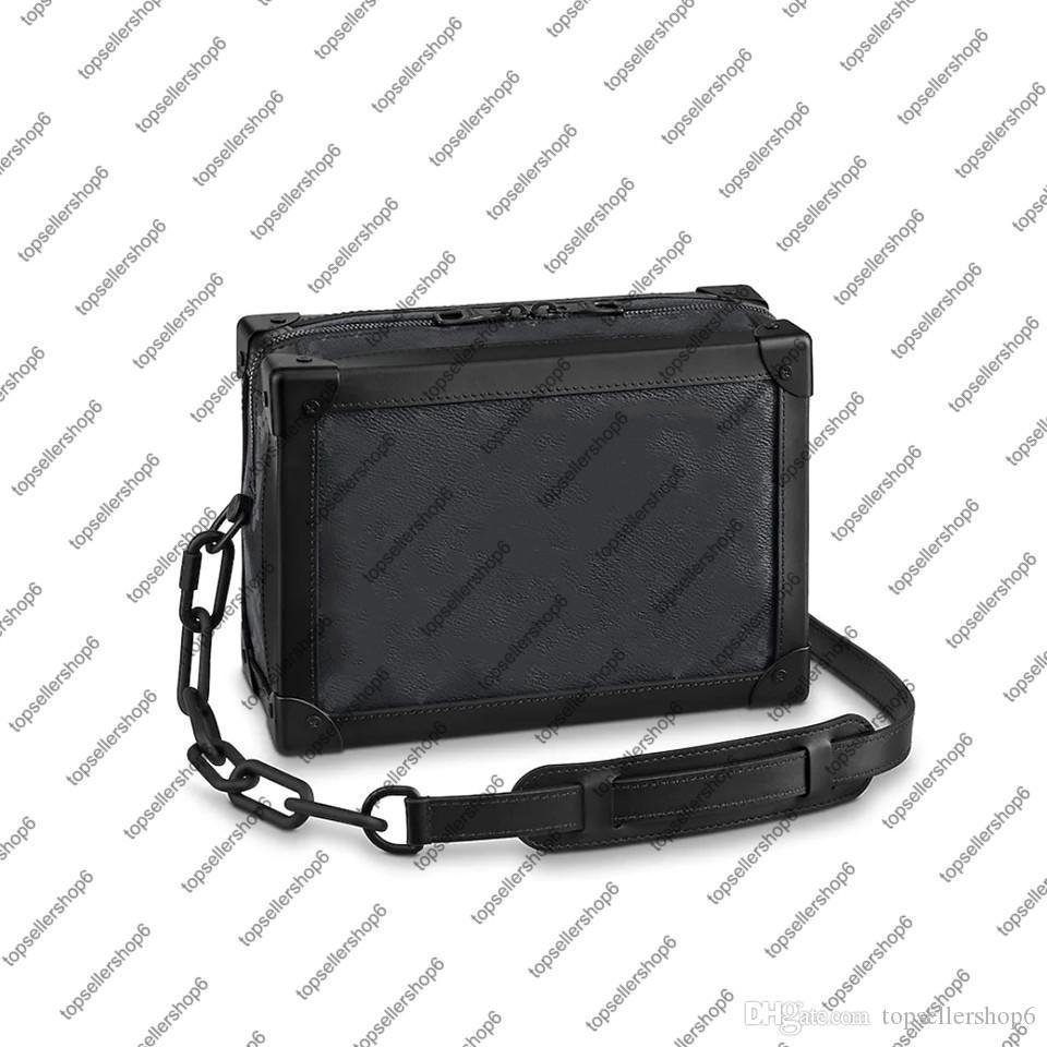 Çanta M55700 Çanta Omuz Erkek Kadın Lüks Messenger Tuval Çanta Kutusu Yumuşak M44730 Tasarımcı Deri Zincir Çanta Dana Trunk VMBKW