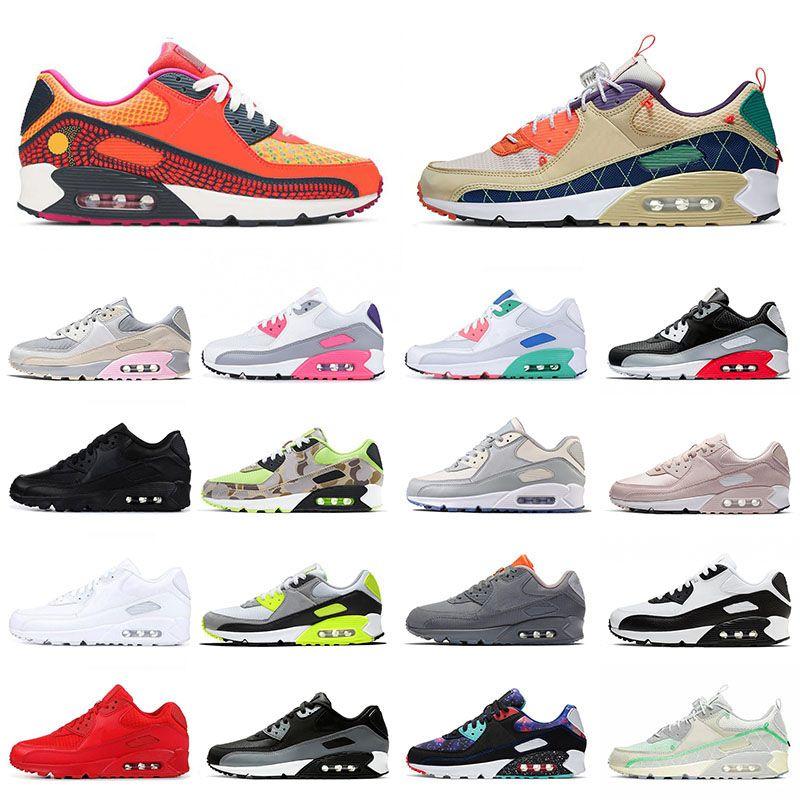 max airmax 90 의 디자이너 남성 운동화 클래식 90 년대 적외선 배 화이트 블랙 여자 트레이너 패션 브랜드 스니커즈 노란색 스포츠 신발을 사육