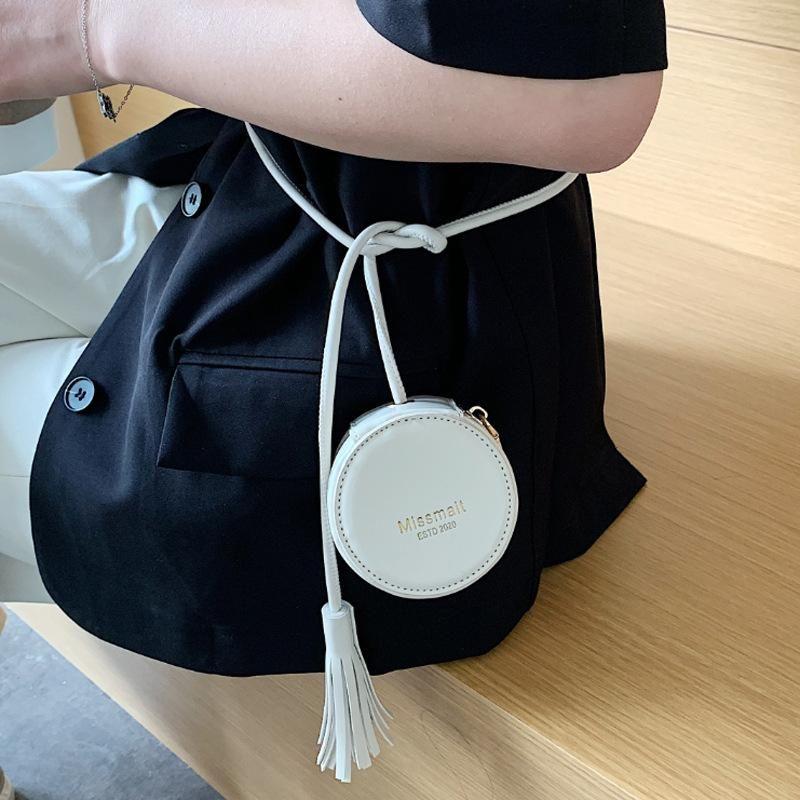 حقائب الخصر مصغرة حقيبة جولة الإناث 2021 ماركة مصمم المرأة صغيرة فاني حزمة شرابة حزام لطيف عملة محفظة الكتف