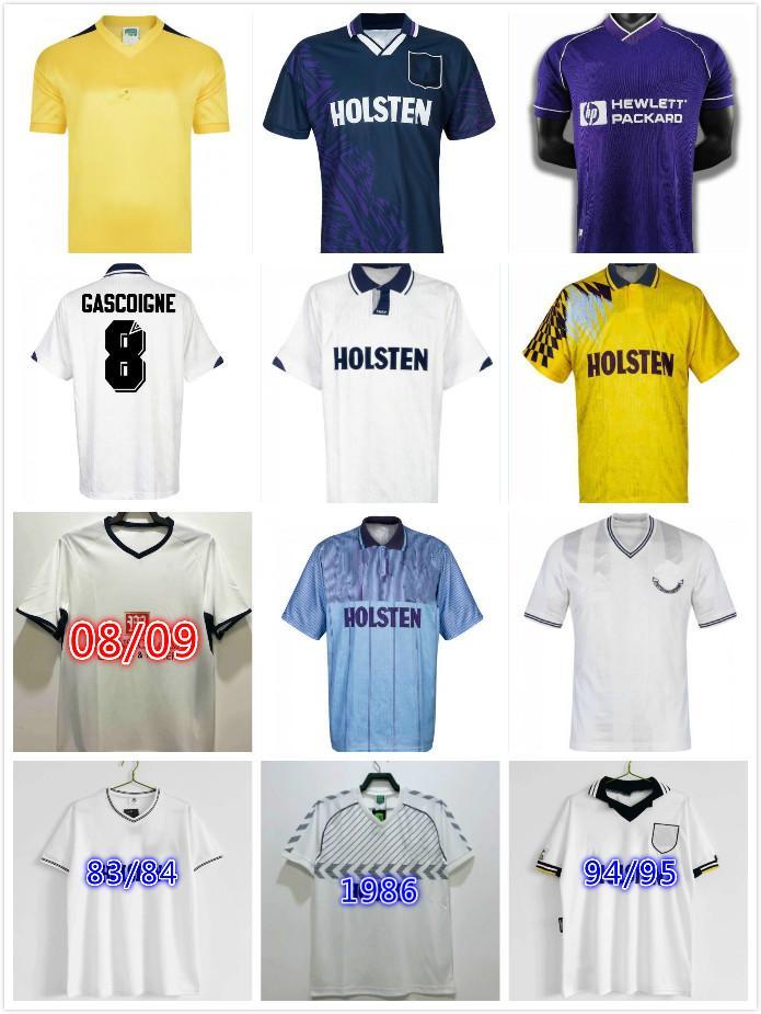 1982 1990 1991 1991 1992 1998 1998 1999 Tottenham Retro Bale Fussball Jersey Spurs Klinsmann Gascoigne Anderon Sheringham 91 92 94 95 Klassische Vintage-Hemd-Uniformen
