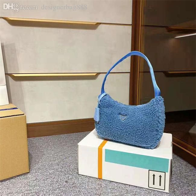 Bolsas de diseño de alta gama 2021 Señoras Calidad de lujo Bolsa de balbinas Bolsos de hombro Material de felpa Se siente excelente de moda Versátil Versátil Casual Multicolor