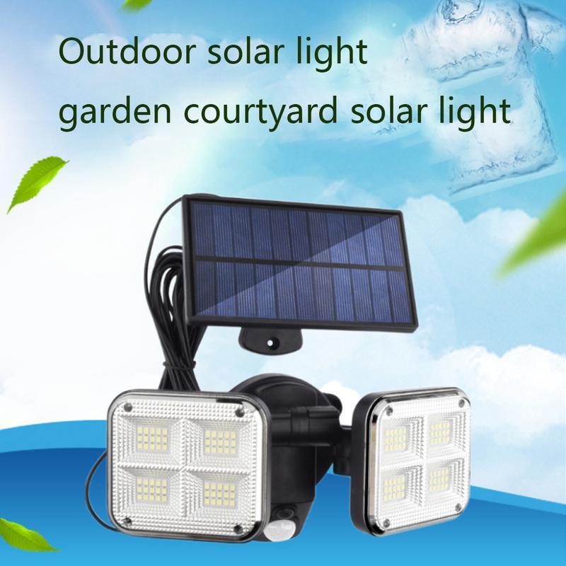Solarlampen 20W super helle Lichter 120LED IP65 wasserdichte Innenraumlampe im Freien mit einstellbarem Kopfweiter Beleuchtungswinkel