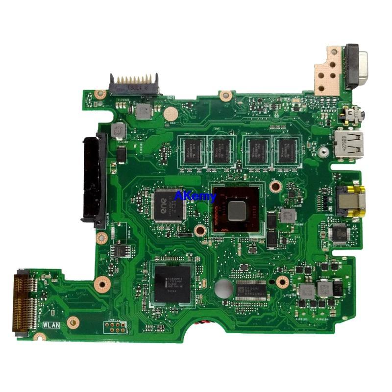 Motherboards Akemy For Asus X101C X101CH Laptop Motherboard 2 Cores CPU REV2.3/2.0 100% Tested Mianboard